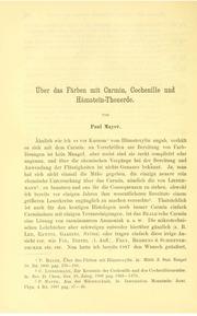 Vol bd.10 text (1891-1893): andUuml;ber das Fandauml;rben mit Carmin, Cochenille und Handauml;matein-Thonerde