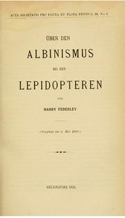 Vol v. 31 (1908-1909): andUuml;ber den Albinismus von Lepidopteren