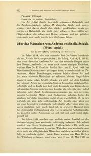 Vol v. 32 (1942): andUuml;ber das Mandauml;nnchen von Andrena enslinella (Hym. Apid.).
