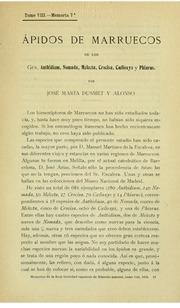 Vol t.8 1911: andAacute;pidos de Marruecos de los Gén. Anthidium, Nomada, Melecta, Crocisa, Coelioxys y Phiarus.