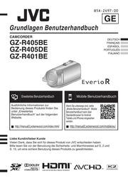 jvc - camcorder - GZ-R401 BE - Quick Start Manual GZ-R405 BE ...