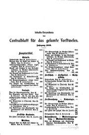 Centralblatt für das gesamte Forstwesen