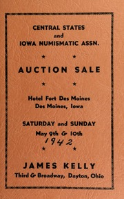 Central states and Iowa numismatic assn. [05/09-10/1942]
