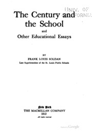 the school and the child being selections from the educational  the century and the school and other educational essays