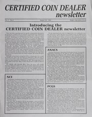 Certified Coin Dealer Newsletter: August through September 1986