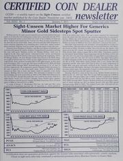 Certified Coin Dealer Newsletter: 2011