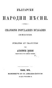 chanson populaire de bulgarie
