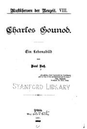 Charles Gounod: Ein Lebensbild