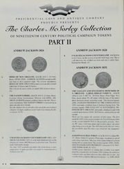 Charles McSorley Collection of Nineteenth Century Political Campaign Tokens, Part II