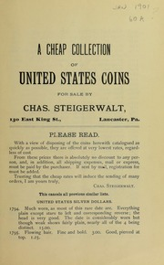A Cheap Collection of United States Coins, 1901