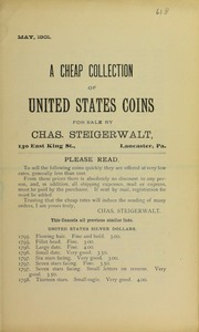 A Cheap Collection of United States Coins, No. 61B