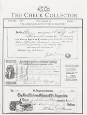 The Check Collector: November 1987, No. 4
