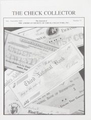 The Check Collector: July-September 2005, No. 75