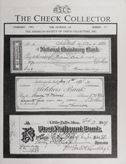 The Check Collector: February 1991, No. 17