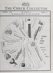 The Check Collector: November 1988, No. 8