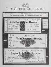 The Check Collector: November 1991, No. 20