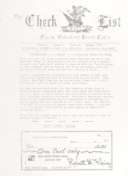 The Check List: January 1970 Vol. 1 No. 1