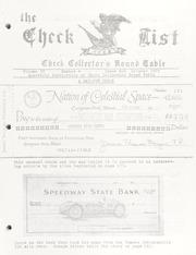 The Check List: October 1973 Vol. 4 No. 4 (pg. 39)
