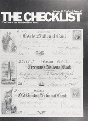 The Check List: Vol. 13 No. 2