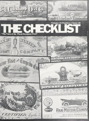 The Check List: Vol. 13 No. 1