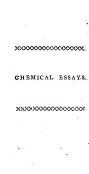 richard watson chemical essays Richard watson (août 1737 à heversham dans le westmorland, angleterre - 1816) est un ecclésiastique anglican et un chimiste britannique il a enseigné la chimie de 1764 à 1773 et a servi en tant qu'évêque de llandaff de 1782 à 1816 il a rédigé quelques pamphlets politiques.