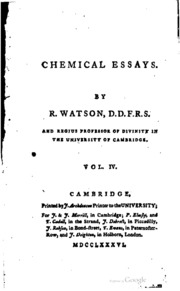 watson chemical essays Click to read more about chemical essays by richard watson librarything is a cataloging and social networking site for booklovers.