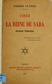 Chez la reine de Saba; chronique Éthiopienne