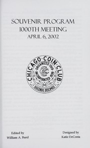 Chicago Coin Club 1000th Meeting