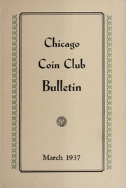 Chicago Coin Club Bulletin: 1937