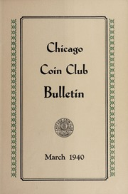 Chicago Coin Club Bulletin: 1940
