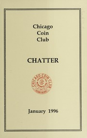 Chicago Coin Club Chatter: 1996