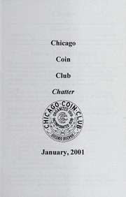 Chicago Coin Club Chatter: 2001