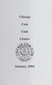 Chicago Coin Club Chatter: 2004