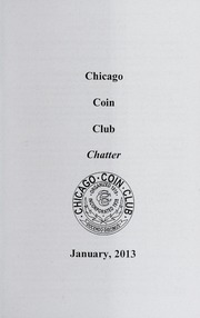 Chicago Coin Club Chatter: 2013