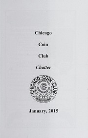 Chicago Coin Club Chatter: 2015