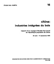 China Industries Integrees Du Bois Fao Forets 16