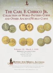The Carl F. Chirico Jr. Collection of World Pattern Coins