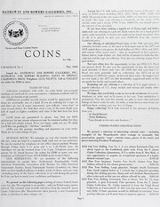 Choice and Rare United States Coins No. 1, May 1969