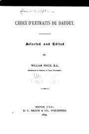 Choix d-extraits de Daudet