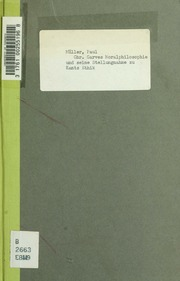 Chr. Garves Moralphilosophie und seine Stellungnahme zu Kants Ethik