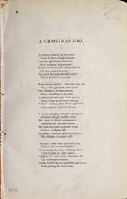 A Christmas Idyl (1883)