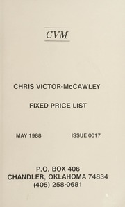 Chris Victor-McCawley Fixed Price List #17
