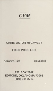 Chris Victor-McCawley Fixed Price List #24