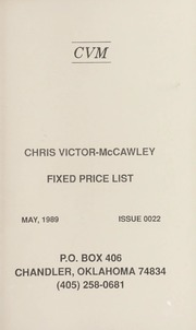 Chris Victor-McCawley Fixed Price List #22