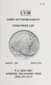Chris Victor-McCawley Fixed Price List #31