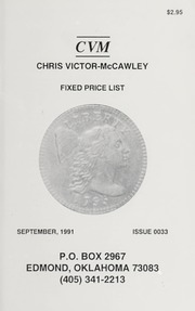 Chris Victor-McCawley Fixed Price List #33