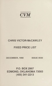 Chris Victor-McCawley Fixed Price List #30