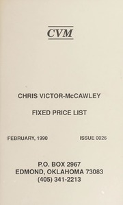 Chris Victor-McCawley Fixed Price List #26