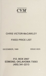 Chris Victor-McCawley Fixed Price List #25