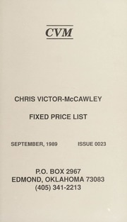 Chris Victor-McCawley Fixed Price List #23